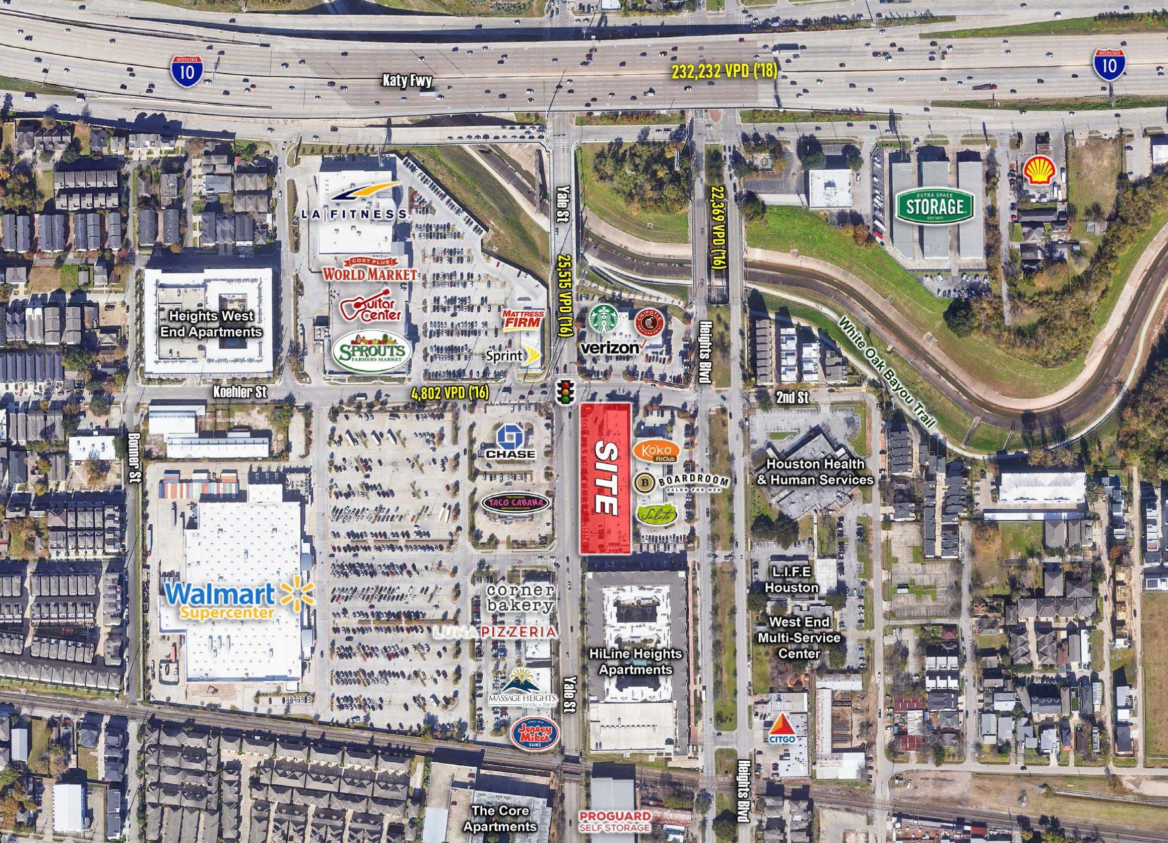 Houston, TX - I-10 & Yale Street