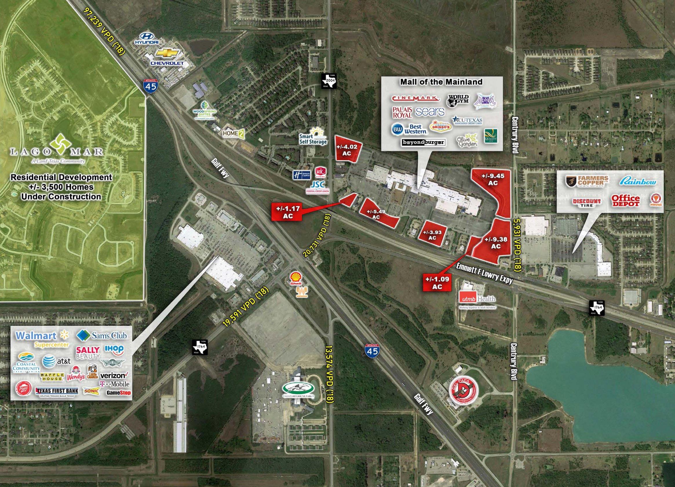 Texas City, TX - I-45 & Emmett Lowry Expressway